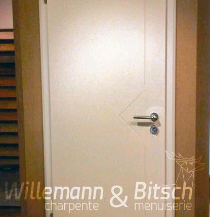Porte laqu isoplane panneau willemann bitsch for Porte interieur isophonique