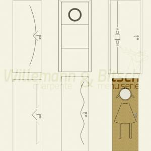 Porte pr te peindre panneau ou isoplane willemann for Peindre porte interieur deja peinte
