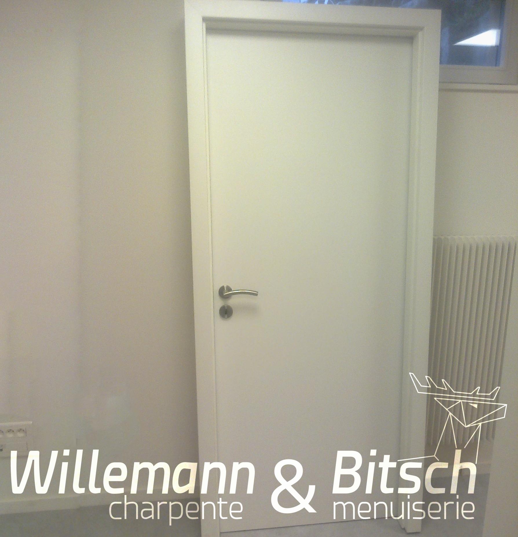 Porte Prête à Peindre Panneau Ou Isoplane Willemann Bitsch - Porte placard coulissante et porte intérieure isoplane