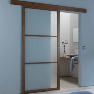 Porte coulissante willemann bitsch for Porte a galandage bois