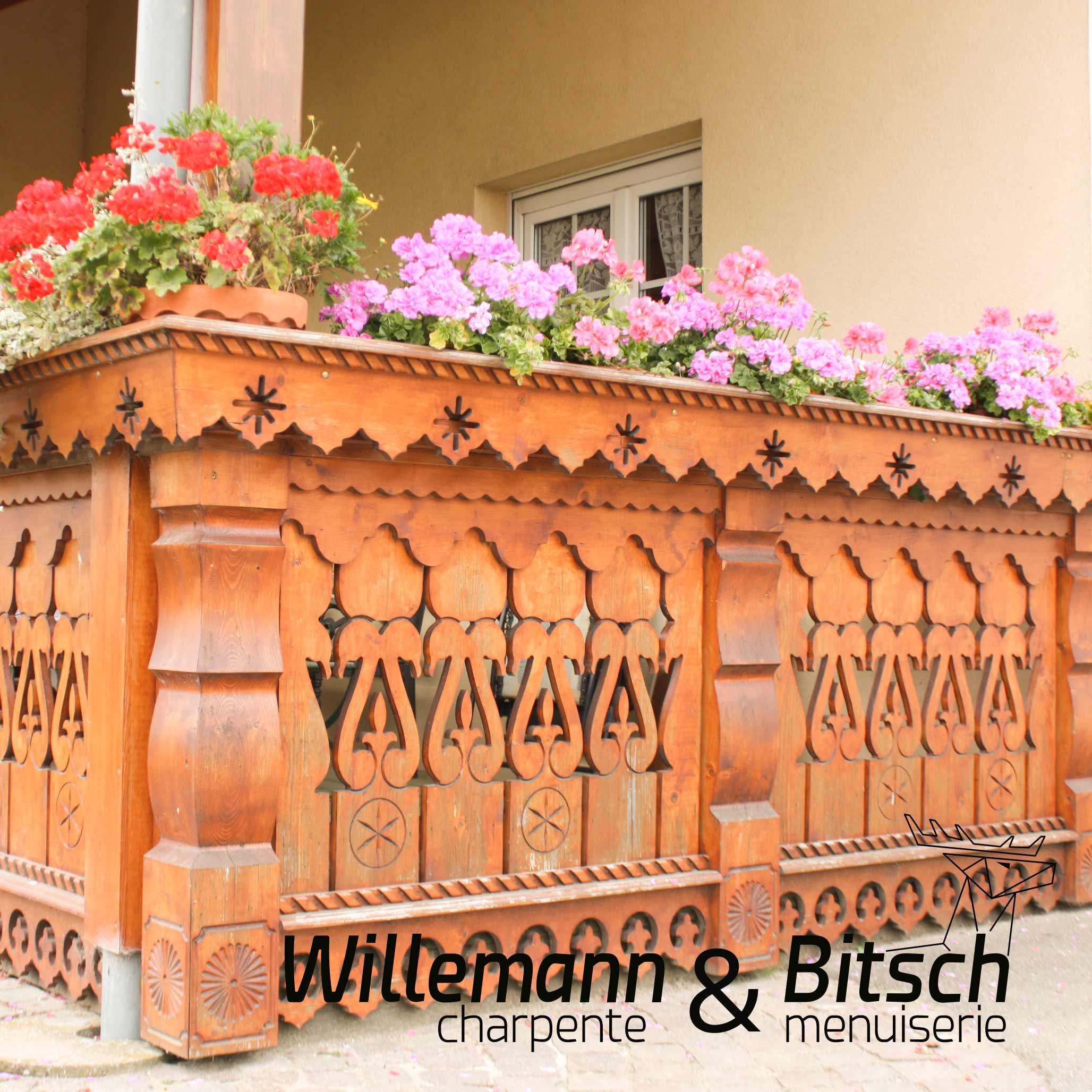 garde corps rampe décoré gravé bois massif traditionnelle extérieur bitsch menuiserie haut rhin