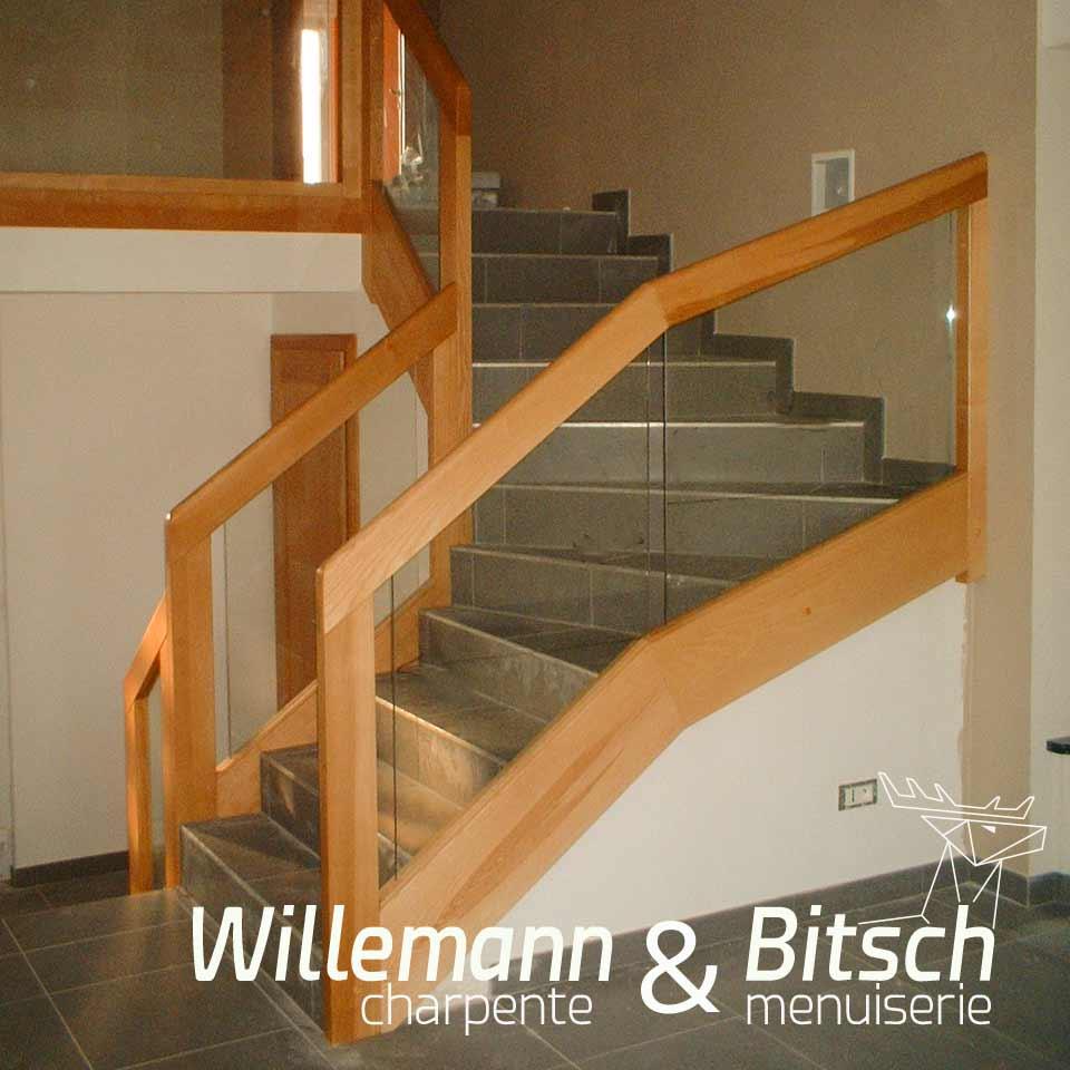 escaliers garde corps bois verre menuiserie alsace 68