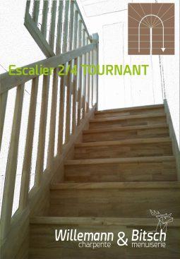escaliers-&-garde-corps-menuiserie-Bitsch---esquisse-3---24TOURNANT