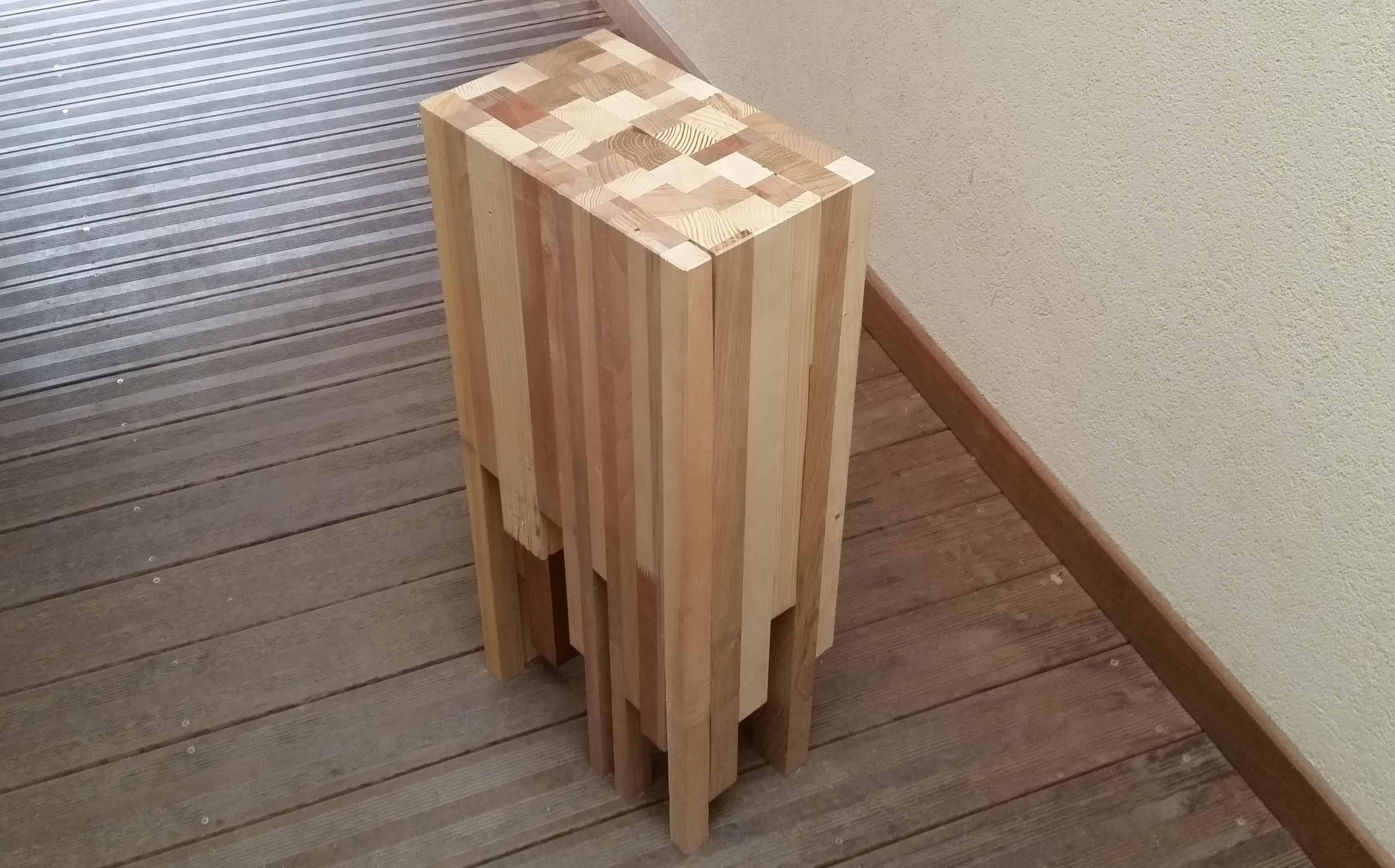 DIY table bois collage cadeau fête des pères menuiserie bitsch artisan alsace rhin