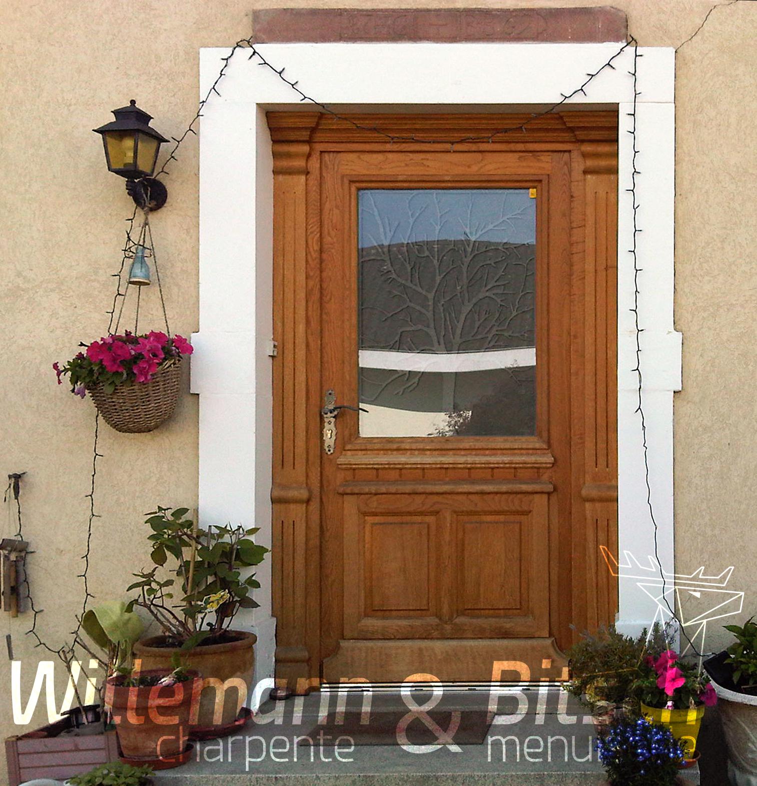 Porte Entree Vitree Opaque porte d'entrée - bois - willemann & bitsch
