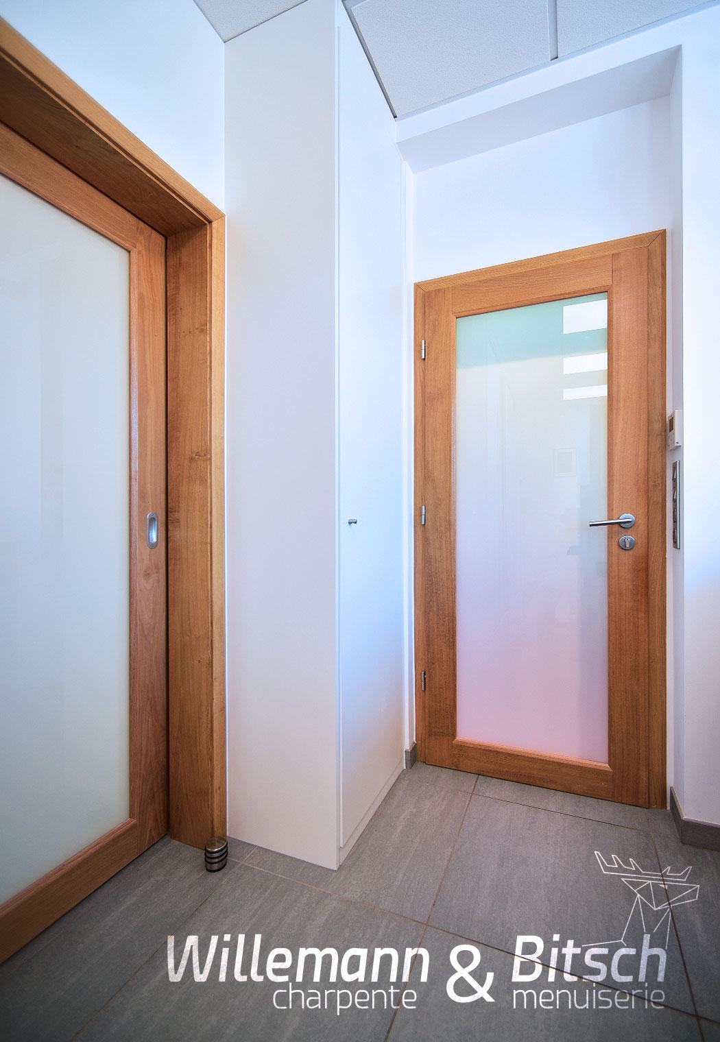 Cernay 68 - Porte coulissante et battante ambiance chêne - espace harmonisé
