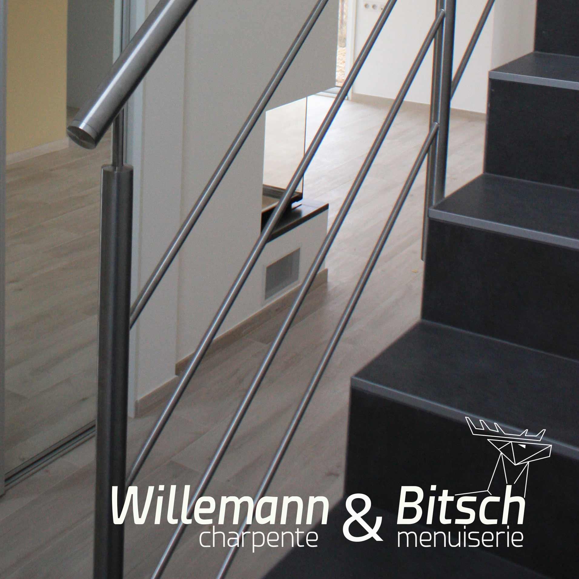rampes inox métal plaquage menuiserie escaliers intérieur