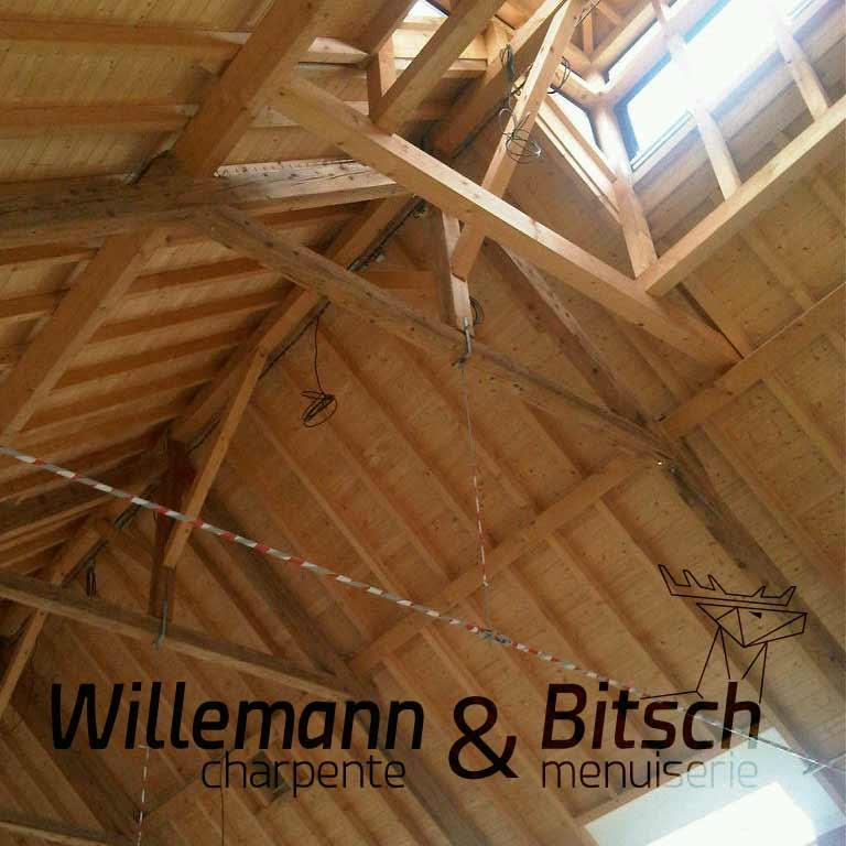 construction professionnel bois massif contre collée charpente extension alsace