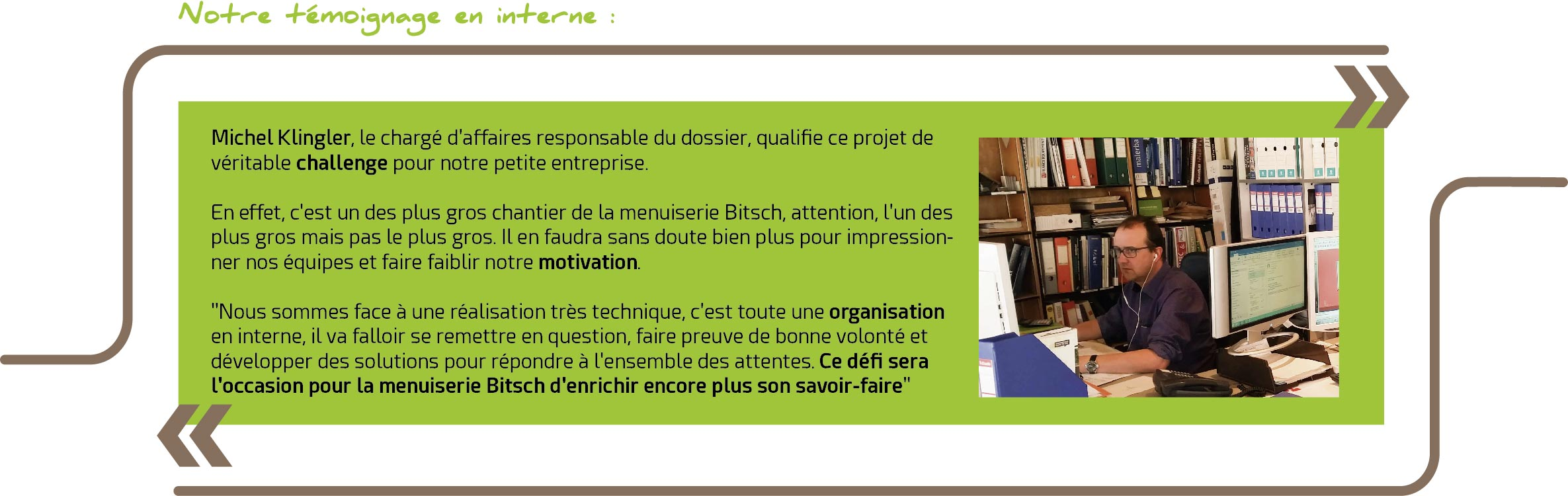 témoignage menuiserie bitsch learning center 68 mulhouse